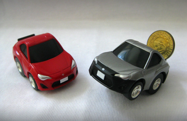 A very cool find at Toy Town Glorietta: Choro Q Toyota 86