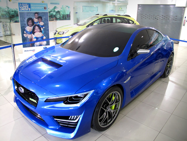 Subaru WRX concept car now in the Philippines