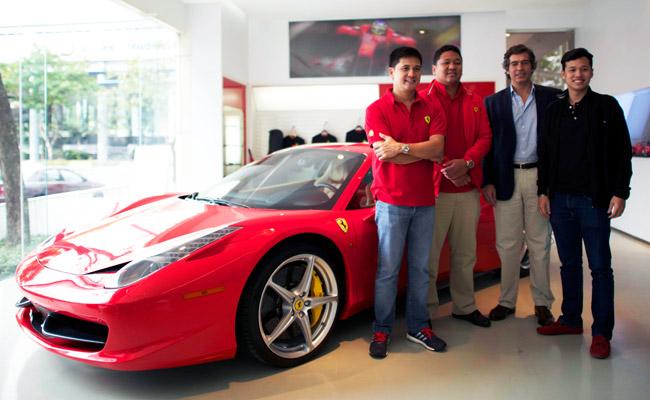 Ferrari Challenge driver Vincent Floirendo