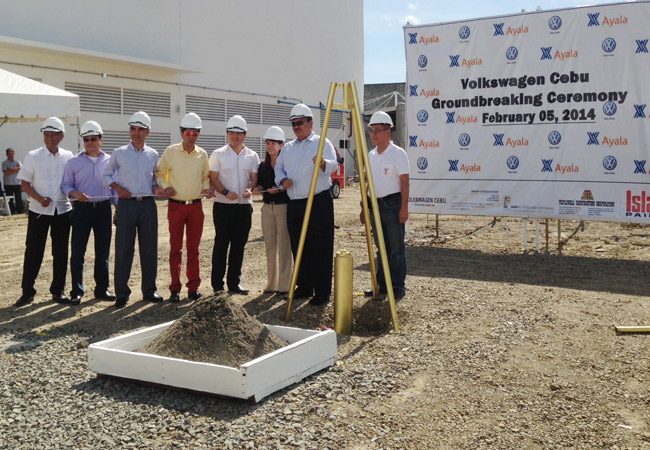 Groundbreaking ceremony for Volkswagen Cebu