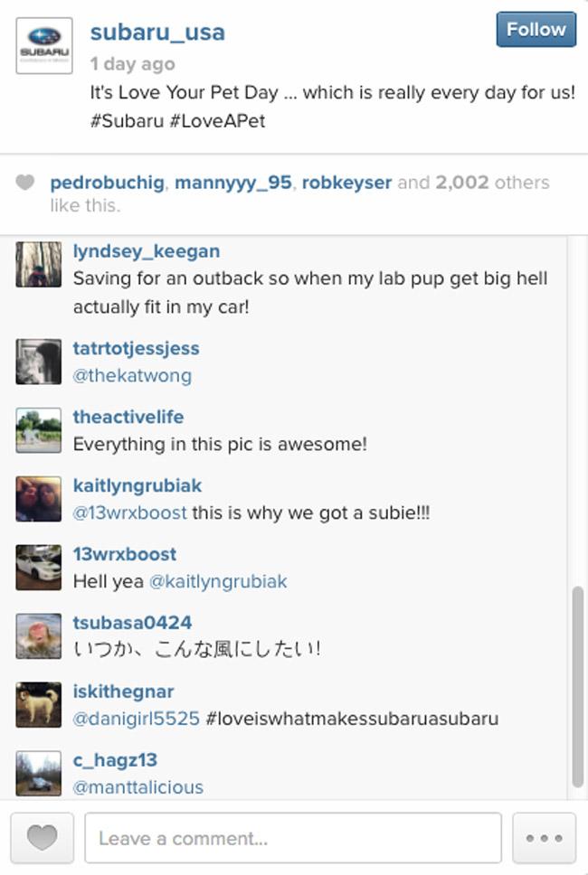 Subaru USA on Instagram