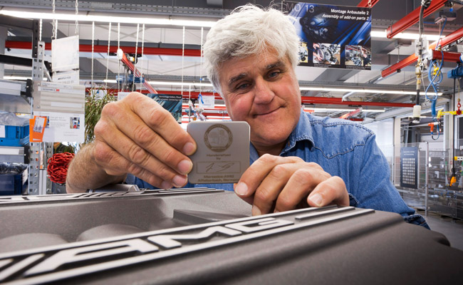 Jay Leno at AMG headquarters