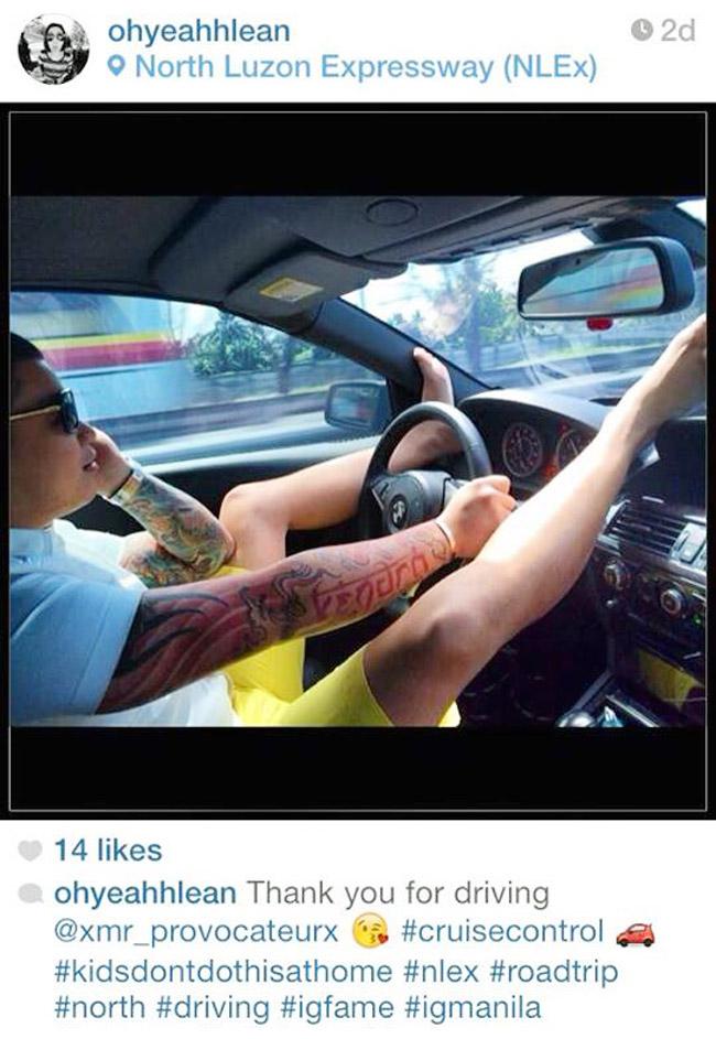 Instagram post: Stupid driving on NLEX