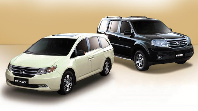 Car promo in the Philippines: Honda Odyssey, Pilot