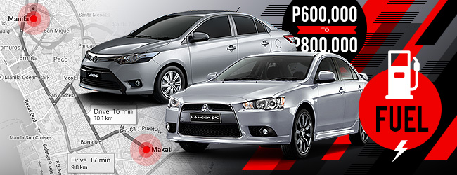 Mitsubishi Lancer vs. Toyota Vios in the Philippines