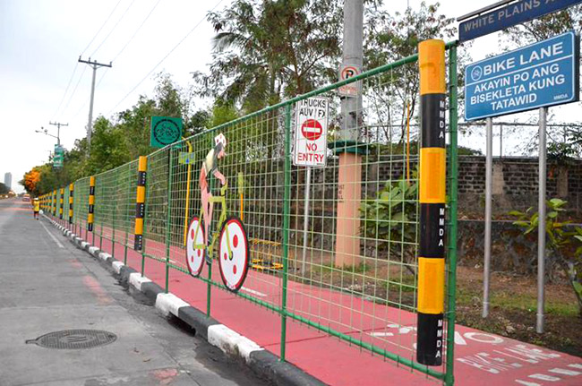 MMDA introduces bike lanes in Quezon City