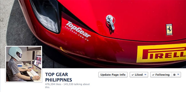 Top Gear Philippines' Facebook page