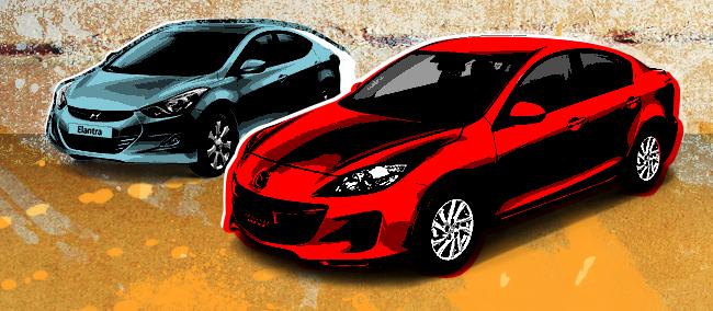 Hyundai Elantra vs. Mazda 3 vs. Toyota Altis vs. Subaru Impreza