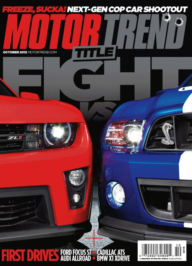 Motor Trend Camaro-Mustang cover