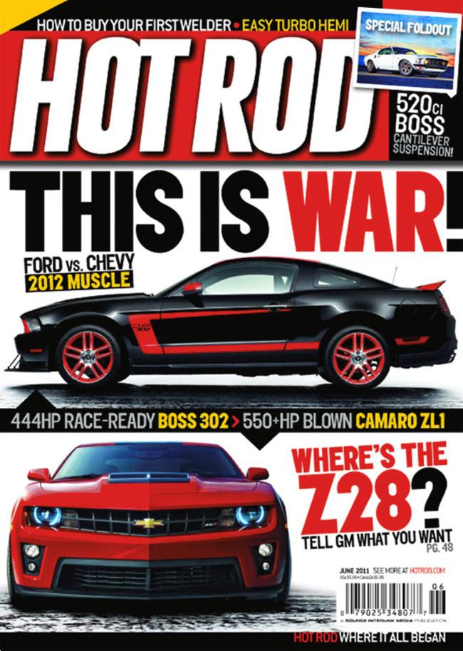 Hot Rod Camaro-Mustang cover