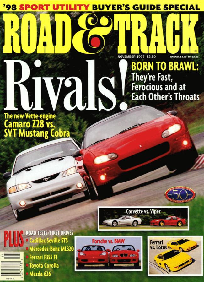 Road & Track Camaro-Mustang cover