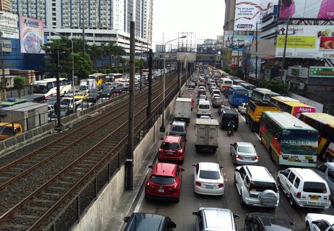 EDSA traffic on Holy Thursday