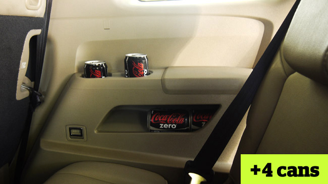 How many soda cans the Honda Pilot carry?