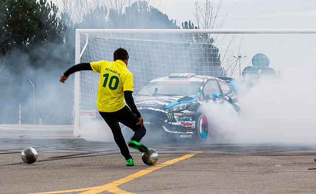 TopGear.com.ph Philippine Car News - Video: Ken Block takes on Brazilian football star Neymar Jr.