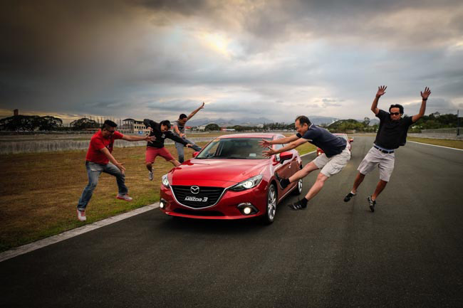 Behind the scenes of Top Gear's May 2014 cover shoot