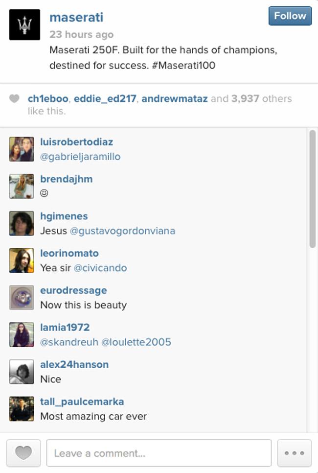 Maserati on Instagram