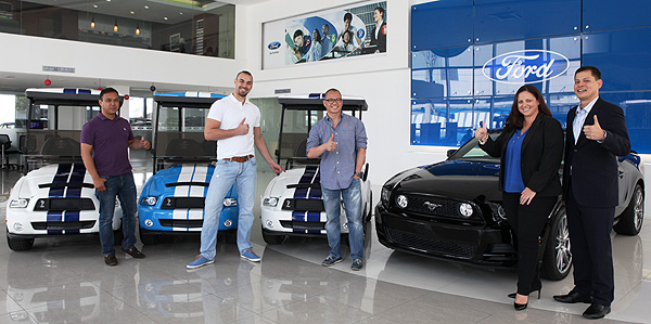 TopGear.com.ph Philippine Car News - Ford PH wraps up promotion by awarding Mustang-inspired golf carts