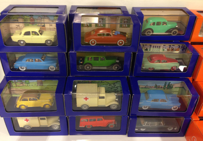 Tintin toy cars