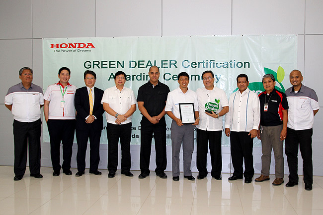 Honda Philippines names 'Certified Good Green 'Dealers'