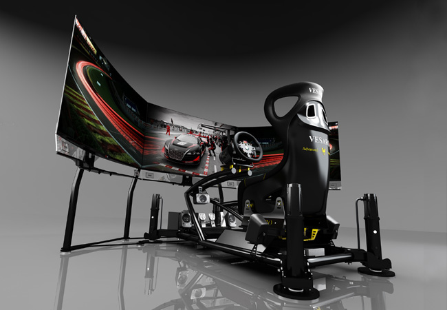 TopGear.com.ph Philippine Car News - Simulator rig maker creates curved 55-inch OLED triple display