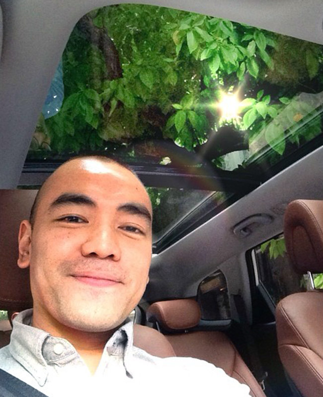 Paeng Batuigas in the Hyundai Grand Santa Fe