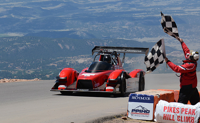 TopGear.com.ph Philippine Car News - Mitsubishi scores 1-2 finish in Pikes Peak Hill Climb's EV division