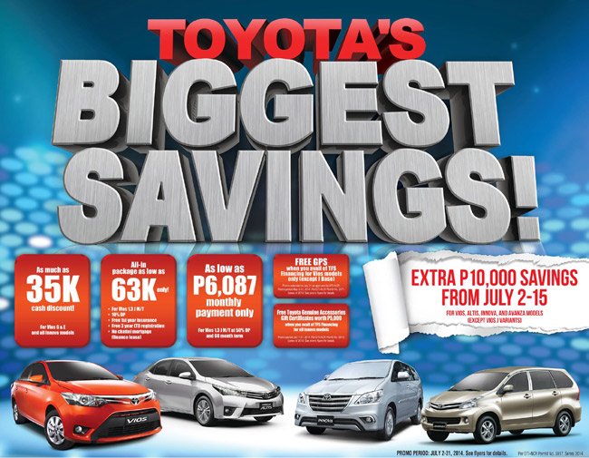 Today may be the best time to buy a Toyota vehicle