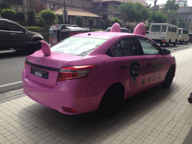 GrabTaxi pink Vios