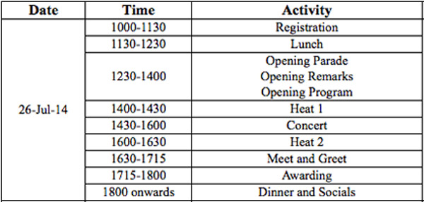 Vios Cup schedule (Round 2)
