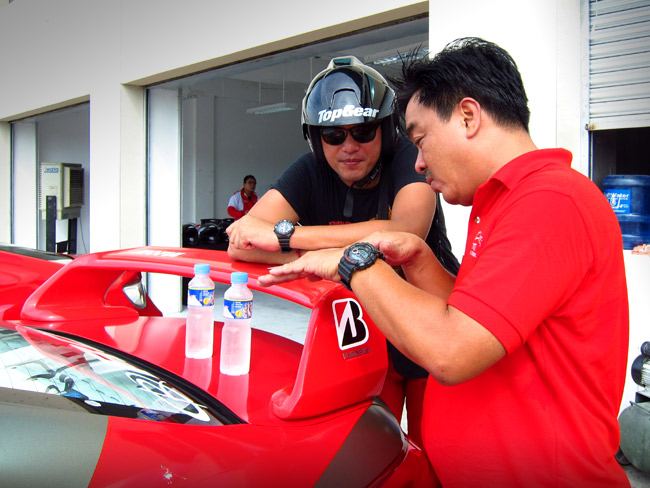 Let's take a peek inside the Vios Cup pit lane