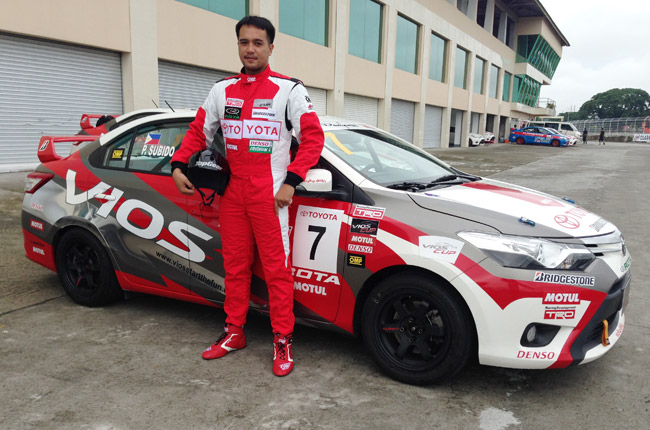 Paulo Subido at the Vios Cup