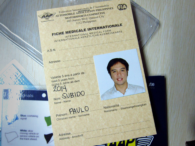 Ever wonder what a Philippine local competition license looks like?