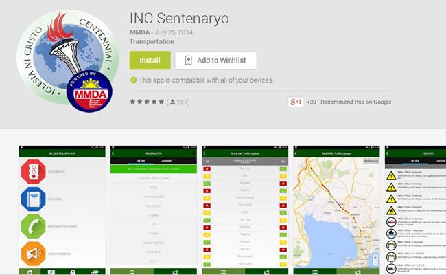 TopGear.com.ph Philippine Car News - MMDA creates app specifically for INC centenary celebration