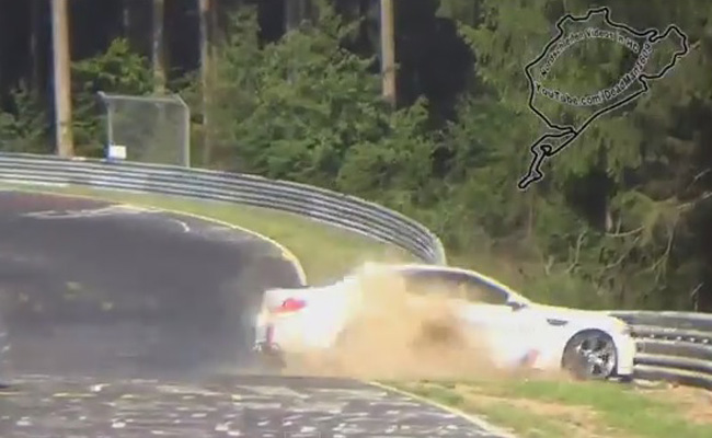 TopGear.com.ph Philippine Car News - Video: BMW Nuburgring taxi crashes at famed track