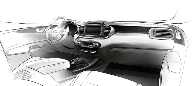 TopGear.com.ph Philippine Car News - Kia shows off next-generation Sorento's interior