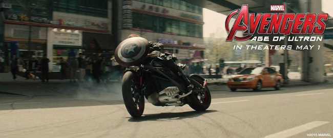 Harley-Davidson LiveWire in Avengers: Age of Ultron