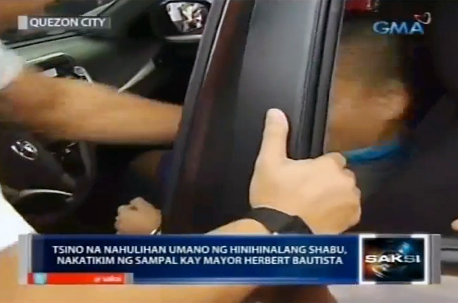 QC mayor Herbert Bautista slaps Chinese drug dealer