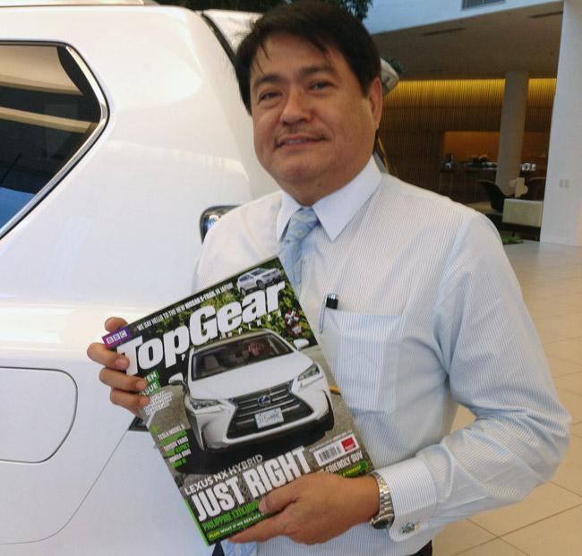 Lexus Manila president Danny Isla
