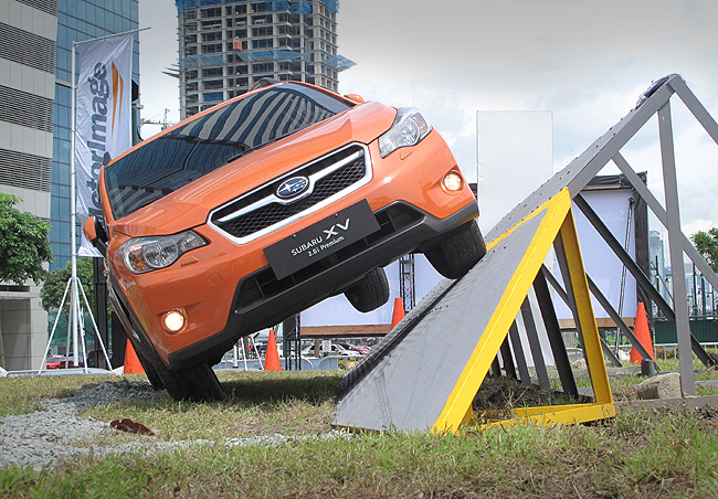 Test drive the Subaru XV, Forester through AWD obstacles
