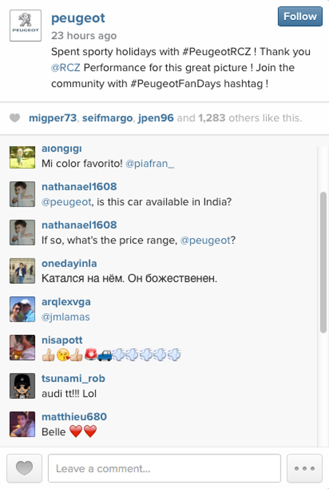 Peugeot on Instagram