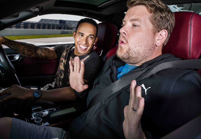 Lewis Hamilton and James Corden for Puma