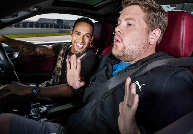 Lewis Hamilton and James Corden for Puma