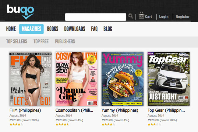 Top-selling magazines on Buqo