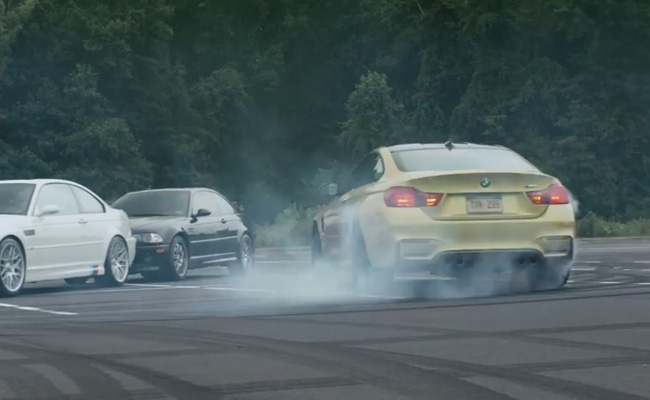 TopGear.com.ph Philippine Car News - Video: BMW M4 drives around course marked by M vehicles