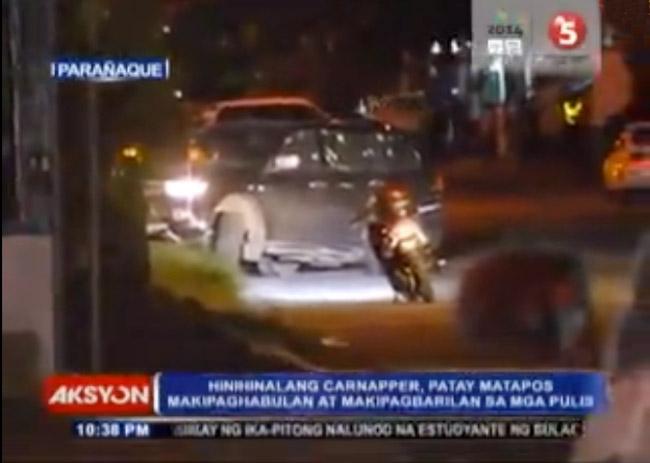 Tim Alon killed inside his Mitsubishi Montero Sport