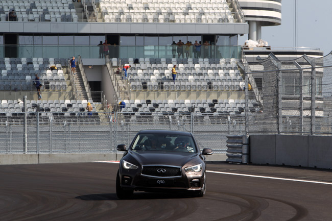 Sebastian Vettel laps the Sochi Autodrom