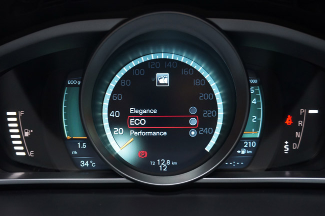 Volvo V40 gauges