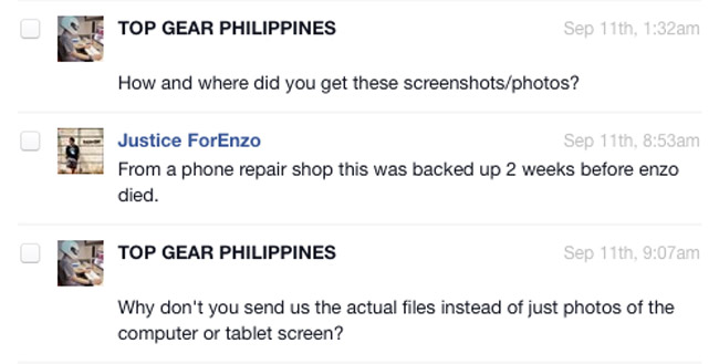 Justice For Enzo mystery Facebook page