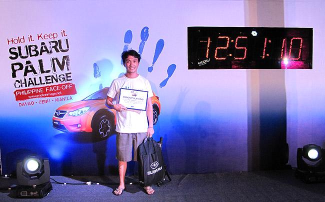 Subaru PH names its Palm Challenge Cebu leg winner