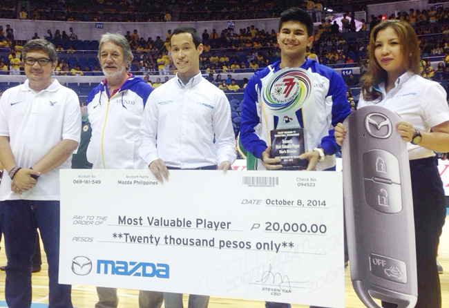 UAAP basketball MVP awardee Kiefer Ravena